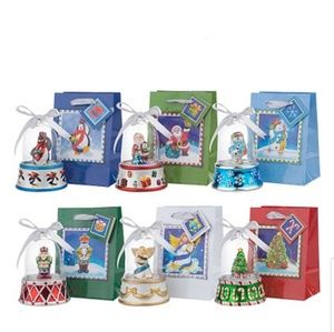 Mr. Christmas Set of 6 Musical Bell Ornaments